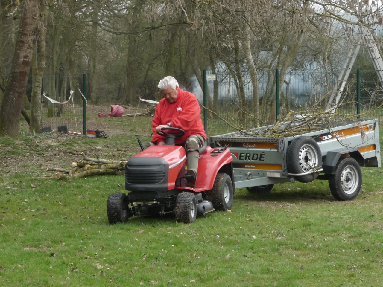 Christian au tracteur